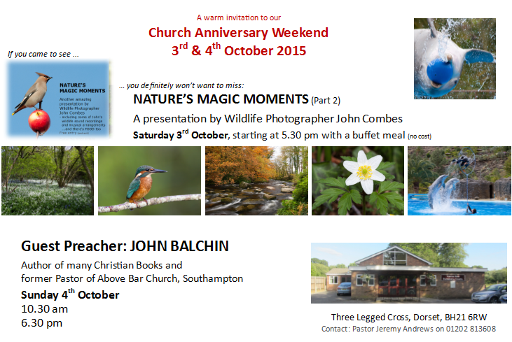 Invitation our Chuch Anniversary Weekend
