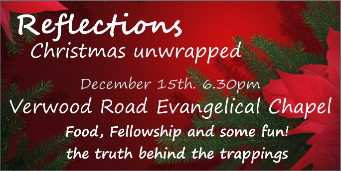 Christmas refections 6.30 pm Fri 15th Dec