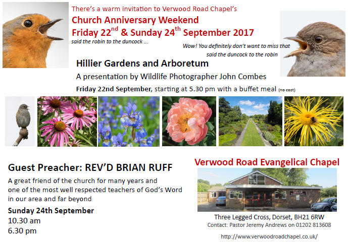 Invitation to Church Anniversary 2017