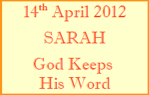 Women's Hour Bible Study - Sarah 14th April