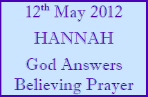 Women's Hour Bible Study - Hannah 12th May