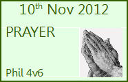 November 10th 2012 - Prayer